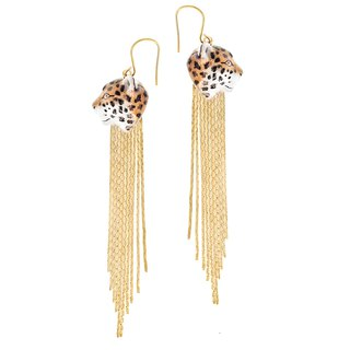 Leopard Fringe Earrings 花豹流蘇耳環