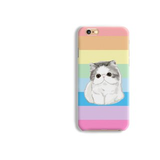 Flat faced shorthair Cat matt  phone case  iPhone X 8 8 plus Galaxy S8 S7 edge