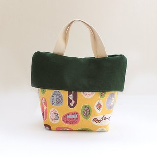 Cute hedgehog and totem color handbag - Straight money