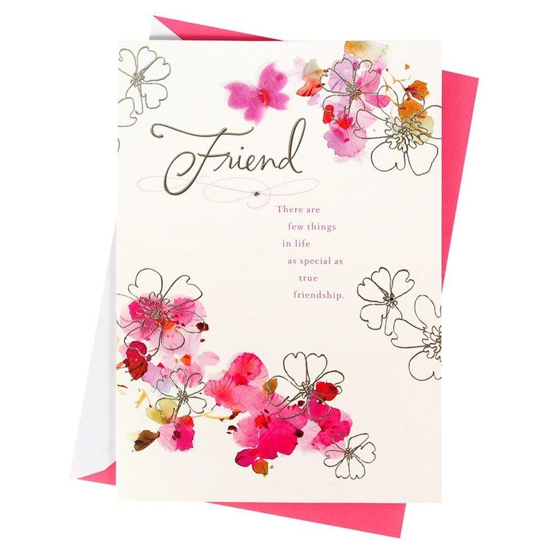 願我們的友誼能讓妳感到滿滿的幸福【Hallmark-卡片 生日祝福】