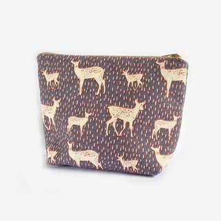 Nordic Deer Travel Pouch, Cosmetic Purse, Kawaii, Cute, Woodland Animal