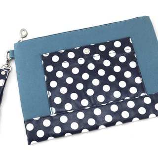 Dot Canvas Bag - Lake Blue