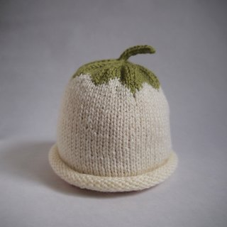 Hand Knit Turnip beanie for 0-3-year-old