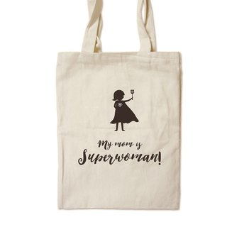 My mom is superwoman - painted canvas bag