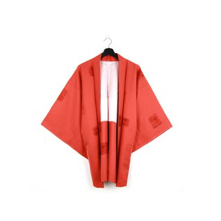 Back to Green-Japan brought back feather weaving red / vintage kimono
