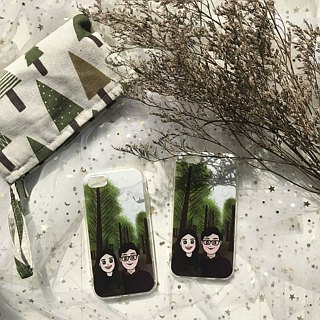 [Q version of the couple portrait phone case] customized friends / family / birthday gift