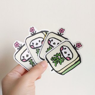 Mahjong illustration sticker
