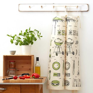 English egg organic cotton apron English barbecue