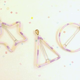 HUKUROU purple gradient geometric hairpin