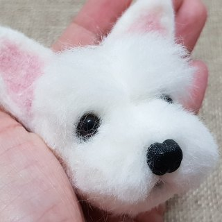 Wool felt Wang Xingren big head Mengzheng real customized key ring planting dog area to the end of November shipment
