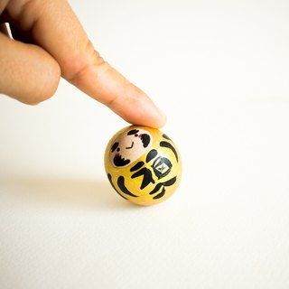 Gold Daruma for wealth and prosperity. Roly poly doll. Unique gift in Japanese style.(H 35 cm)