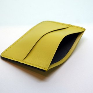 Brilliant yellow - lambskin sets of documents travel card holder business card holder