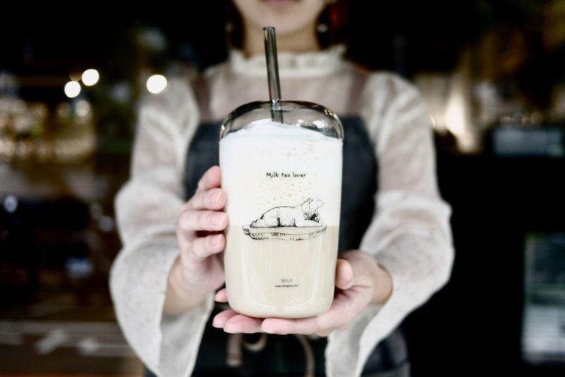 漂浮北極熊玻璃杯