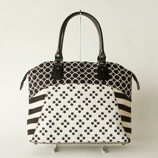 dots/borders/stripes/boston bag Road Movie Classic (Monochrome)