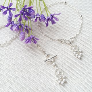 Little Lace Flower Necklace & Bracelet Set