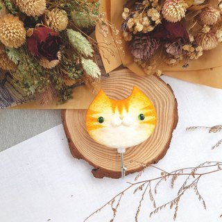 Cat Magnet Hook - (Orange Tabby Cat)