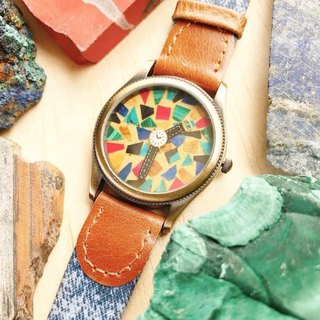 【Lost and find】Lovely design watch inside watch neture gemstone watch