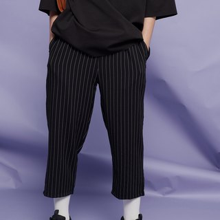 Stripe gentleman shrink pants 9158