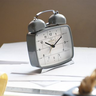 Lclif- simple brick clock alarm clock (gray)