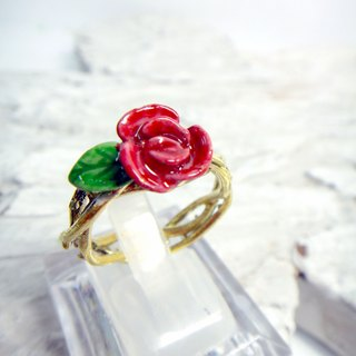Rose Rose Valentine brass hand painted epoxy ring The Little Prince B612