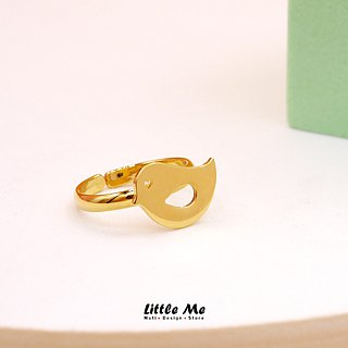 Handmade Little Bird Ring - 18K gold plated on brass, Animal Jewelry,birthday