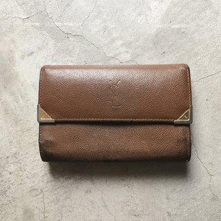 A ROOM MODEL - VINTAGE - YSL Brown Folder / BD-0770