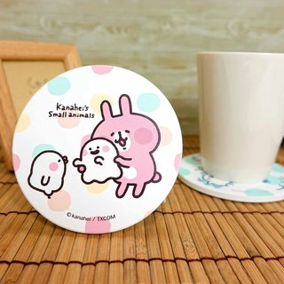 Kanahei's Baby Animal P Pink Rabbit Rabbit Coaster Ceramic Coaster