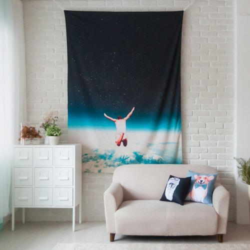 ▷ Umade ◀ Falling With A Hidden Smile 【L】 - Home Decor Home Decor Wall Mural Wall Tapestry Wall Decoration Fresco Home Furnishing Hanging Decoration Interior Design Event Layout -Frank Moth 【L 150x200cm】