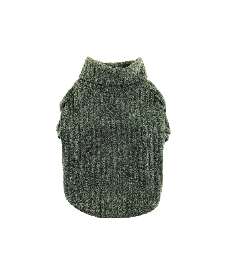 Olive Rib Knit Turtleneck Top, Dog Sweater, Dog Clothing, Dog Fashion