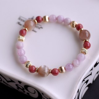 Purple Lihui*Cat's Eye Moonstone*Rose Stone Bracelet