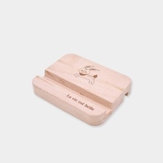 [small box] double-sided business card / mobile phone holder _ text version / wood / gift / gift / graduation gift