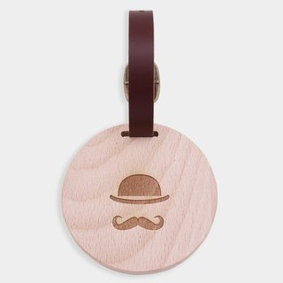 [small box] round luggage tag / beech / cultural / gift / graduation gift / fresh gift