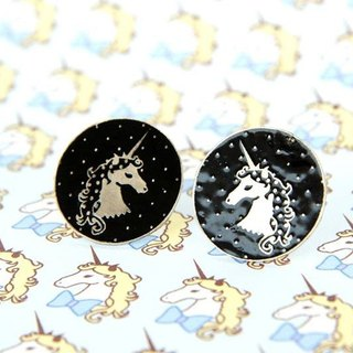 Polka Dot Unicorn Stud Earrings, Unicorn Earrings