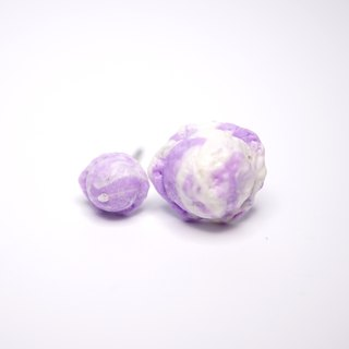 *Playful Design* Lavender and Vanilla Ice Cream with  Earrings
