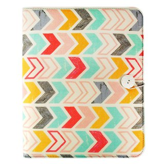 Colorful arrow A4 stationery cloth cover with buckle [Hallmark-Livy Long series designer]