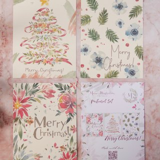 Merry Christmas Postcard Set
