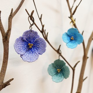Embroidery Flower Earrings