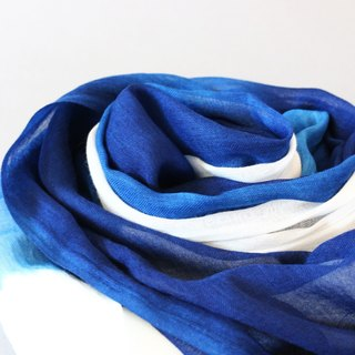 Blue Dyed Scarves - Art Rendering