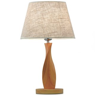 Rotating wood table lamp