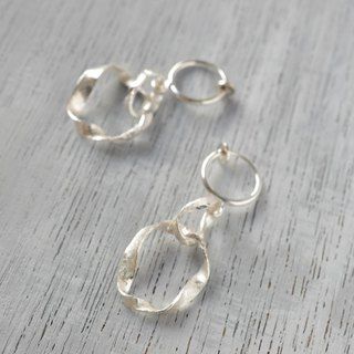 """to be continued""silver non hole earrings"