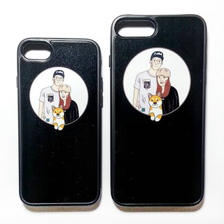 Customized portrait couple phone case _ two groups
