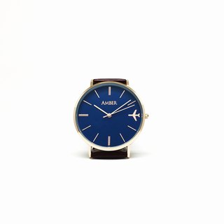 Customized Watches - Simple Blue Large Surface