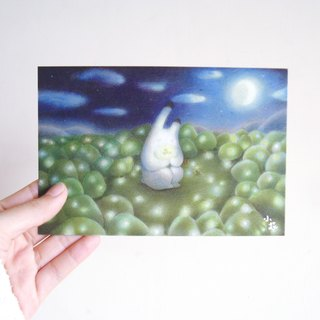 Japanese bunny firefly illustrator card postcard