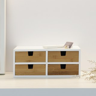 Double-layer four-grain bamboo drawer box (2+2)