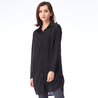 [MACACA] Cotton Button Light Long Shirt - BSE3311 Black