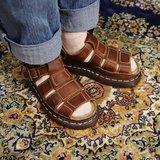 Tsubasa.Y 古著屋 A04咖啡色僧侶馬汀涼鞋, Dr.Martens England