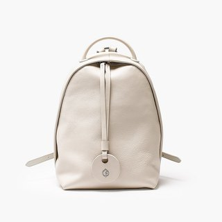 Bodhi says FOSTYLE first layer cowhide leather new basic backpack ivory white original design simple wild color backpack pure white