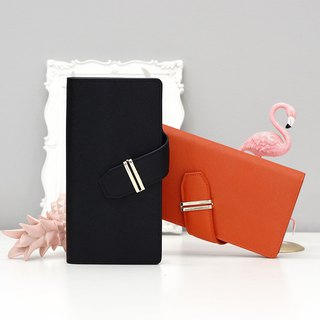 [Hong Kong, Macao and Taiwan] MBS simple asymmetric magnet buckle long wallet ladies wallet