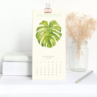 The Silence Of Plants Part TWO - 2019 Mini Botanical  Desk / Wall Calendar