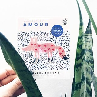 Amour pink fox Patch